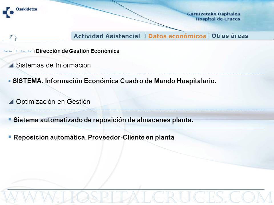 SISTEMA. Información Económica Cuadro de Mando Hospitalario. Sistemas de Información Optimización en Gestión Dirección de Gestión Económica Sistema au