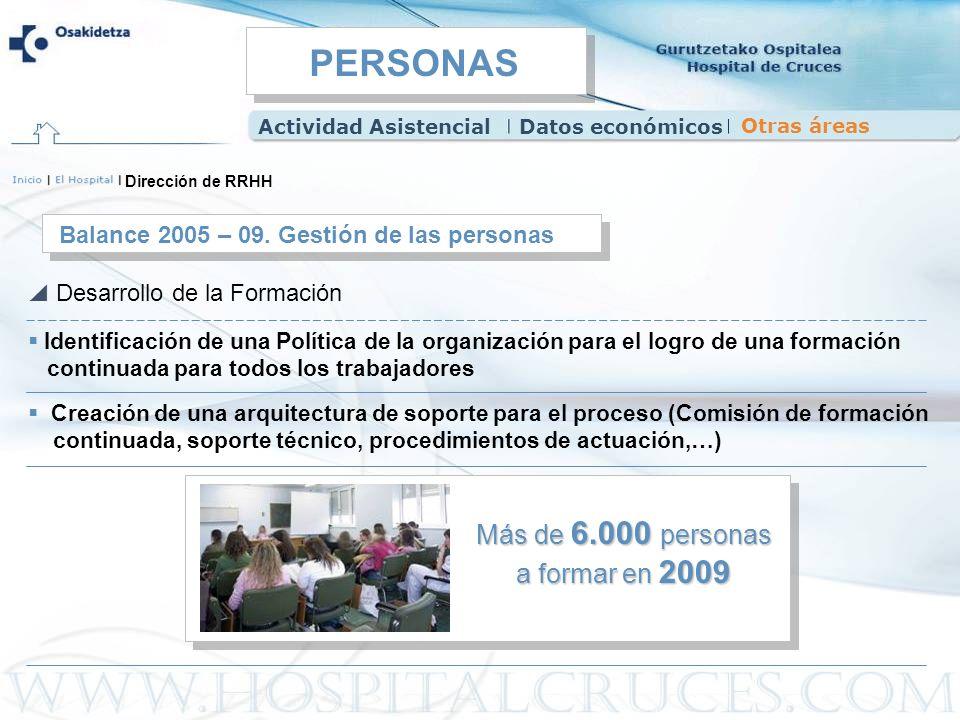 Identificación de una Política de la organización para el logro de una formación continuada para todos los trabajadores Balance 2005 – 09. Gestión de