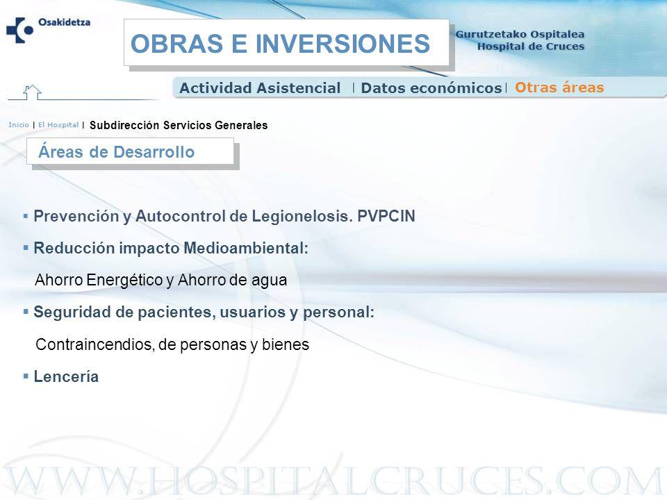Prevención y Autocontrol de Legionelosis. PVPCIN Reducción impacto Medioambiental: Ahorro Energético y Ahorro de agua Seguridad de pacientes, usuarios