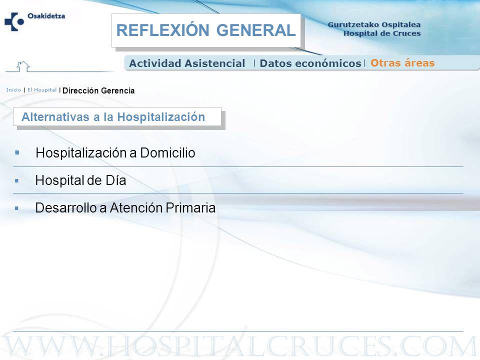 Dirección Gerencia Hospitalización a Domicilio Alternativas a la Hospitalización Hospital de Día Desarrollo a Atención Primaria Actividad AsistencialD