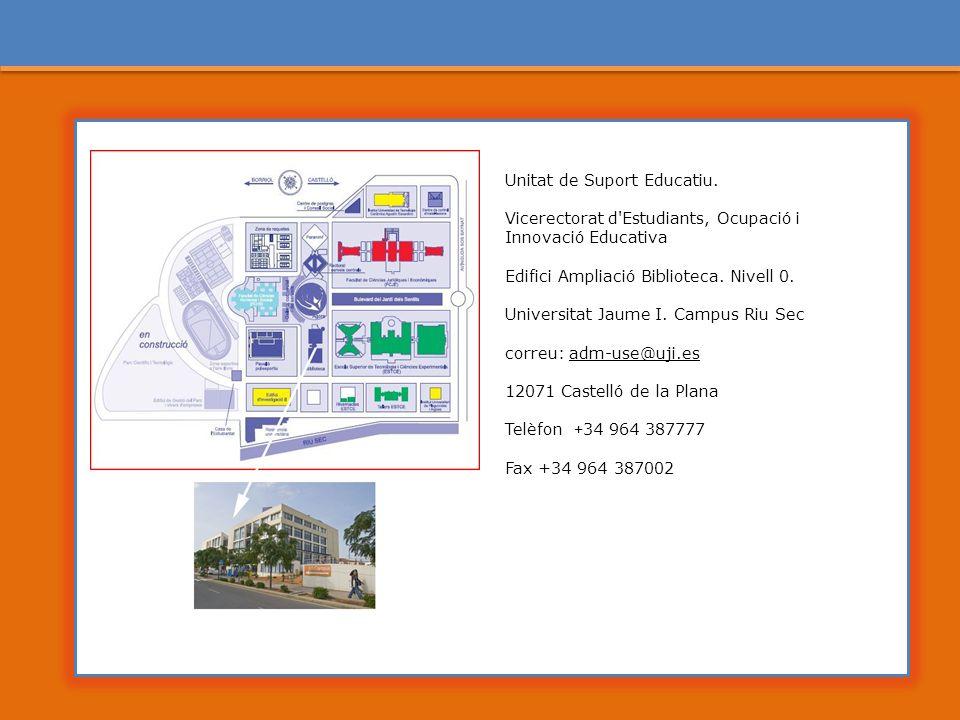 Unitat de Suport Educatiu.