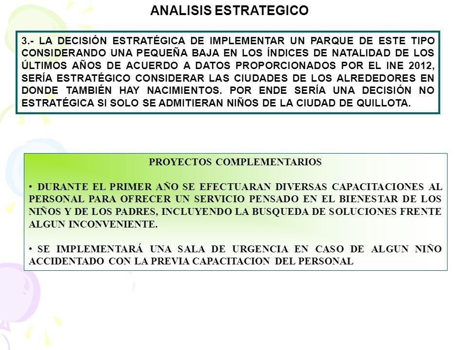 PROYECTOS COMPLEMENTARIOS CONTAR CON BUENA SEÑALIZACION DENTRO DE TODO EL RECINTO, DESDE EL ESTACIONAMIENTO HASTA EL LUGAR DE LOS JUEGOS, INCORPORANDO EN CADA JUEGO LAS INDICACIONES DE SEGURIDAD, CAPACIDAD Y EDAD, A FIN DE EVITAR ACCIDENTES LLAMADO A LICITACION PARA UNA CAFETERIA DE ALIMENTOS SALUDABLES EN EL RECINTO, A FIN DE PROVEER A LOS PADRES UN LUGAR ACOGEDOR DONDE VIGILAR Y ESPERAR A SUS HIJOS.