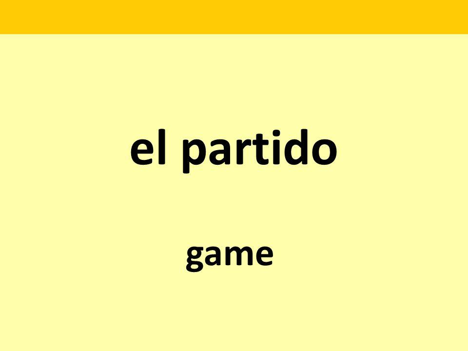 el partido game
