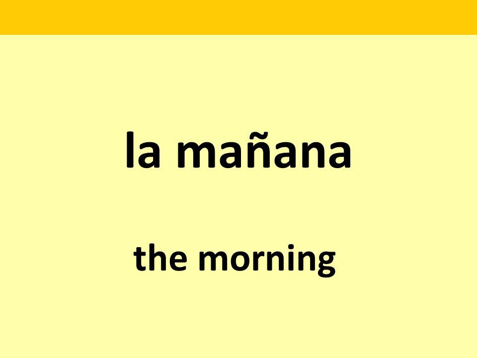 la mañana the morning