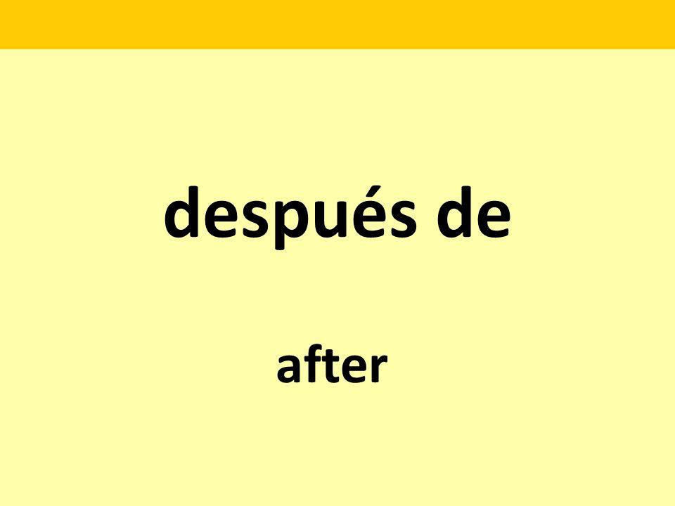 después de after