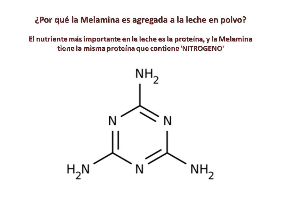 ¿Por qué la Melamina es agregada a la leche en polvo.
