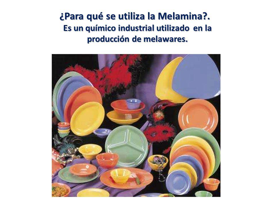 ¿Para qué se utiliza la Melamina?.¿Para qué se utiliza la Melamina?.