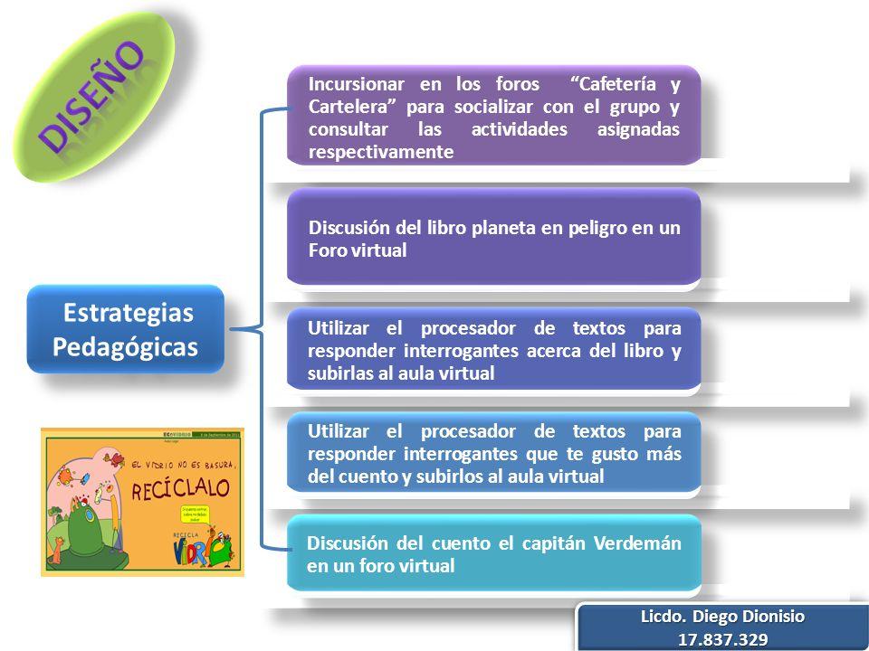 Estrategias Pedagógicas Licdo. Diego Dionisio 17.837.329 17.837.329