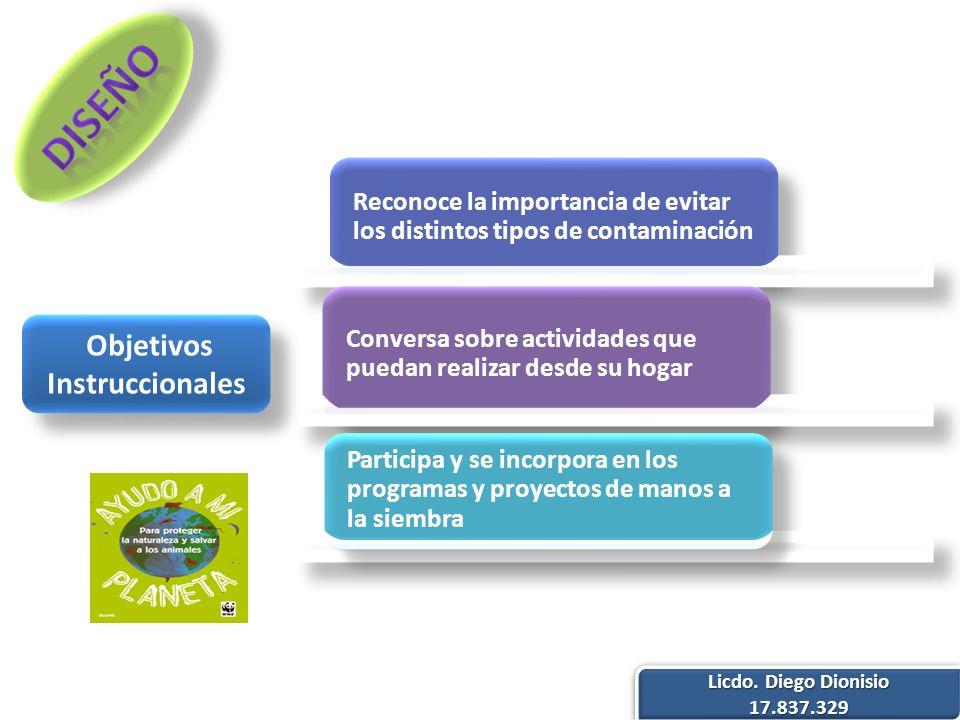 Objetivos Instruccionales Licdo. Diego Dionisio 17.837.329 17.837.329