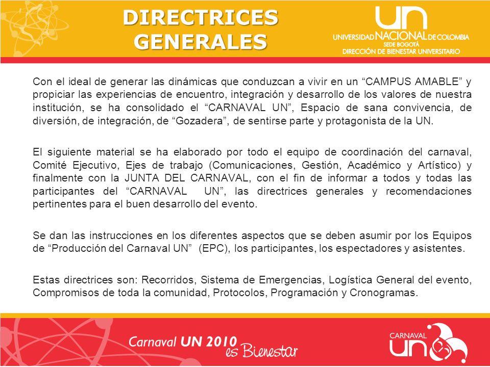 Recorrido acordado por los Equipos de Producción del Carnavalito UN en el colegio IPARM y el Jardín UN en sus reuniones preparatorias.