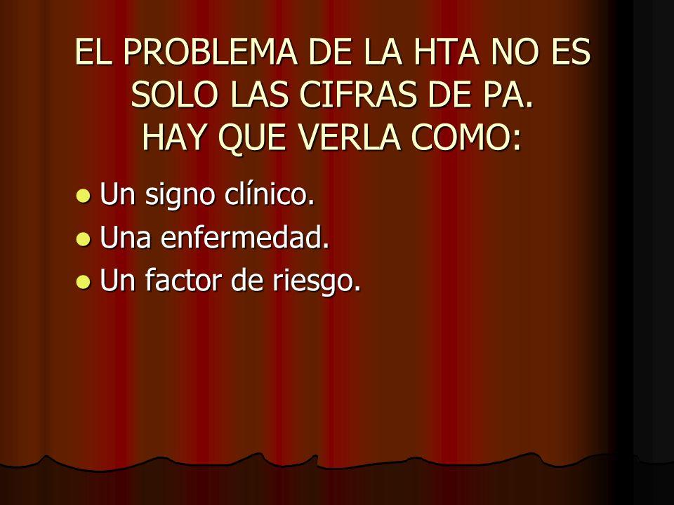 EL PROBLEMA DE LA HTA NO ES SOLO LAS CIFRAS DE PA.