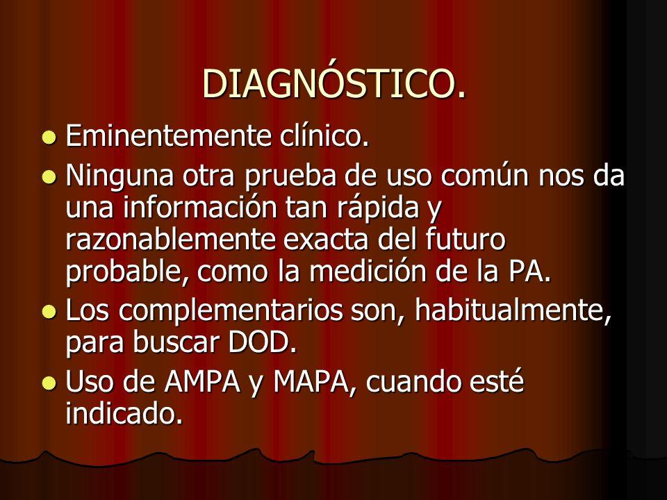 DIAGNÓSTICO.Eminentemente clínico. Eminentemente clínico.
