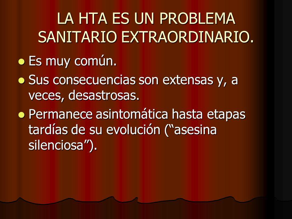 LA HTA ES UN PROBLEMA SANITARIO EXTRAORDINARIO.Es muy común.