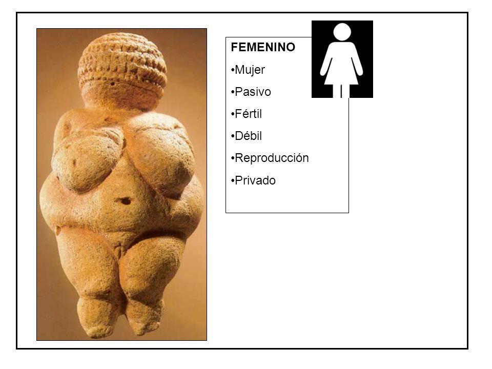FEMENINO Mujer Pasivo Fértil Débil Reproducción Privado