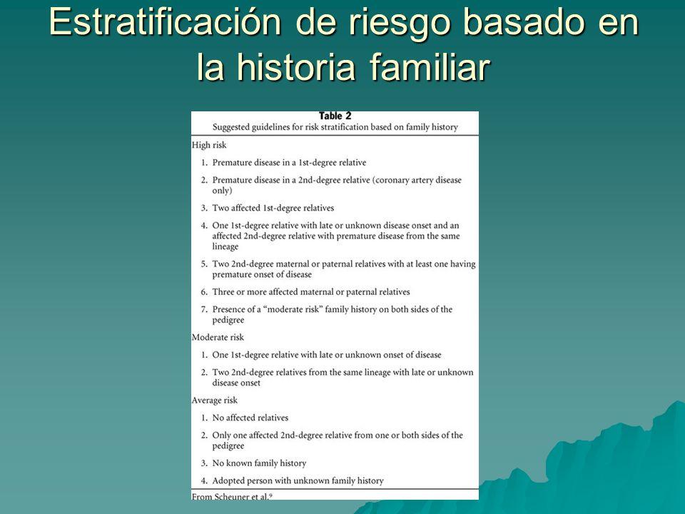 Estratificación de riesgo basado en la historia familiar