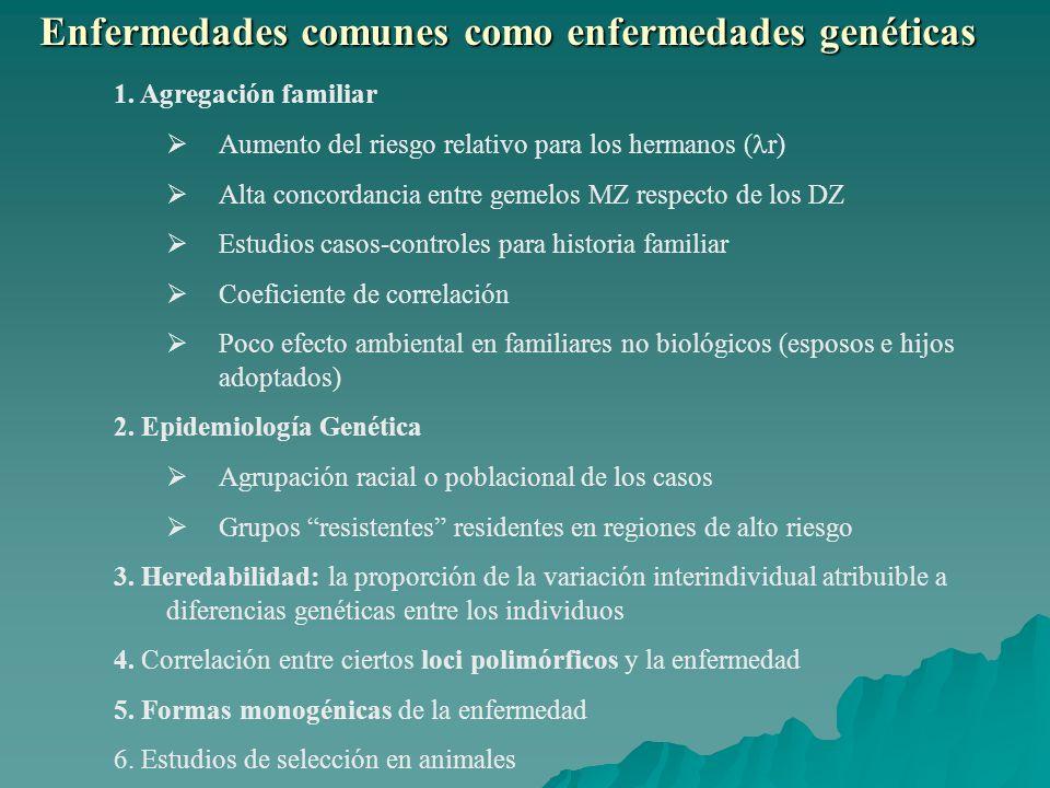 Enfermedades comunes como enfermedades genéticas 1.