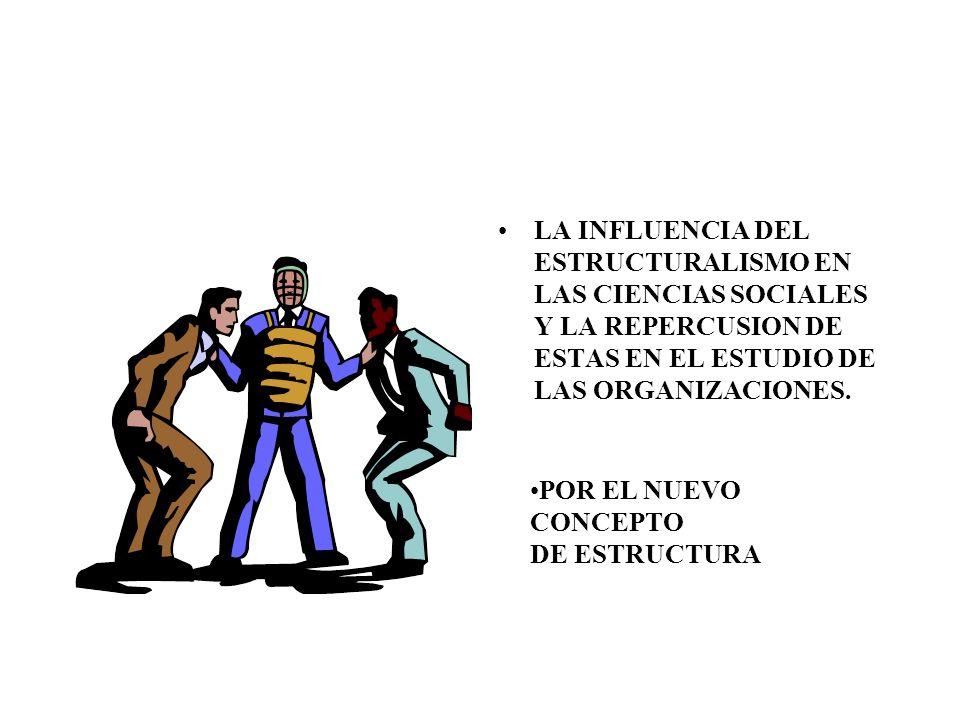 LA INFLUENCIA DEL ESTRUCTURALISMO EN LAS CIENCIAS SOCIALES Y LA REPERCUSION DE ESTAS EN EL ESTUDIO DE LAS ORGANIZACIONES.