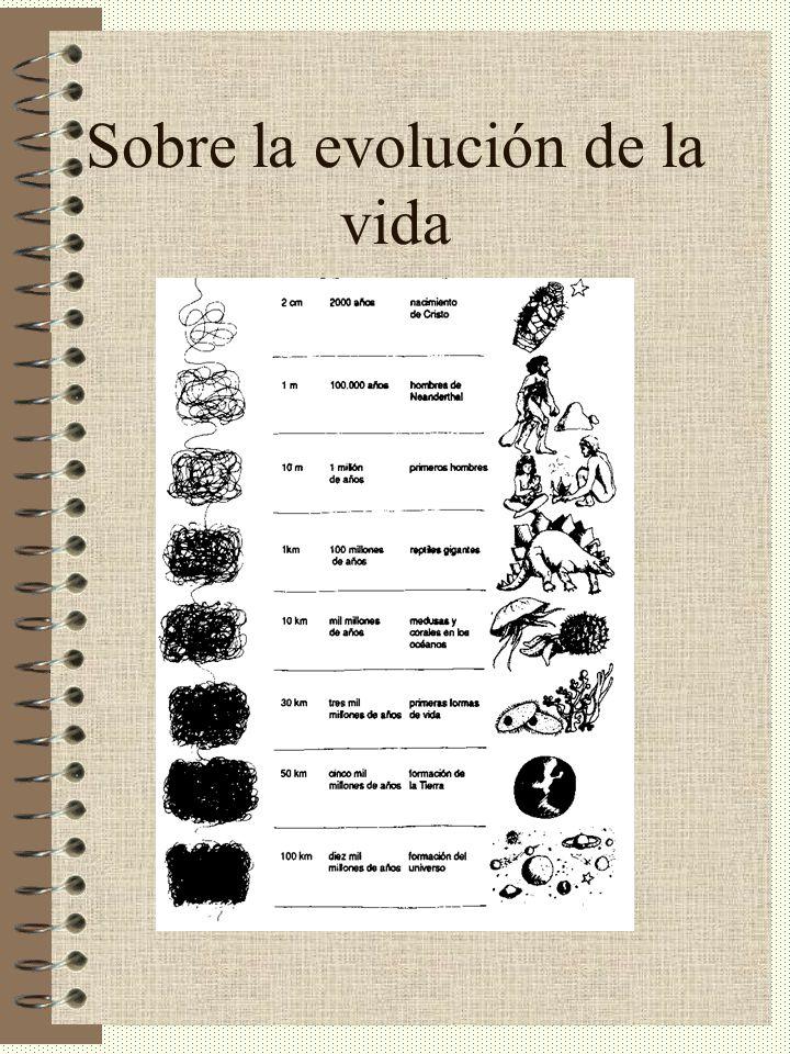 Sobre la evolución de la vida