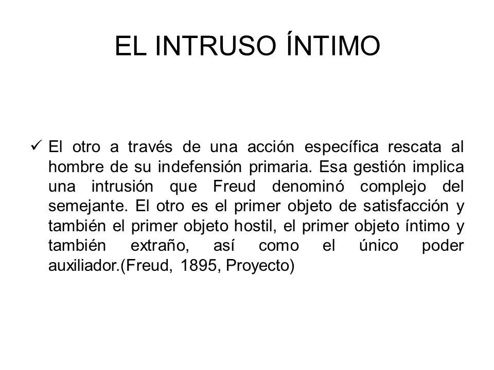 LO AJENO Y LO PROPIO El complejo del semejante es una marca de origen de lo desiderativo y de lo hostil.(Freud, 1895,Proyecto).