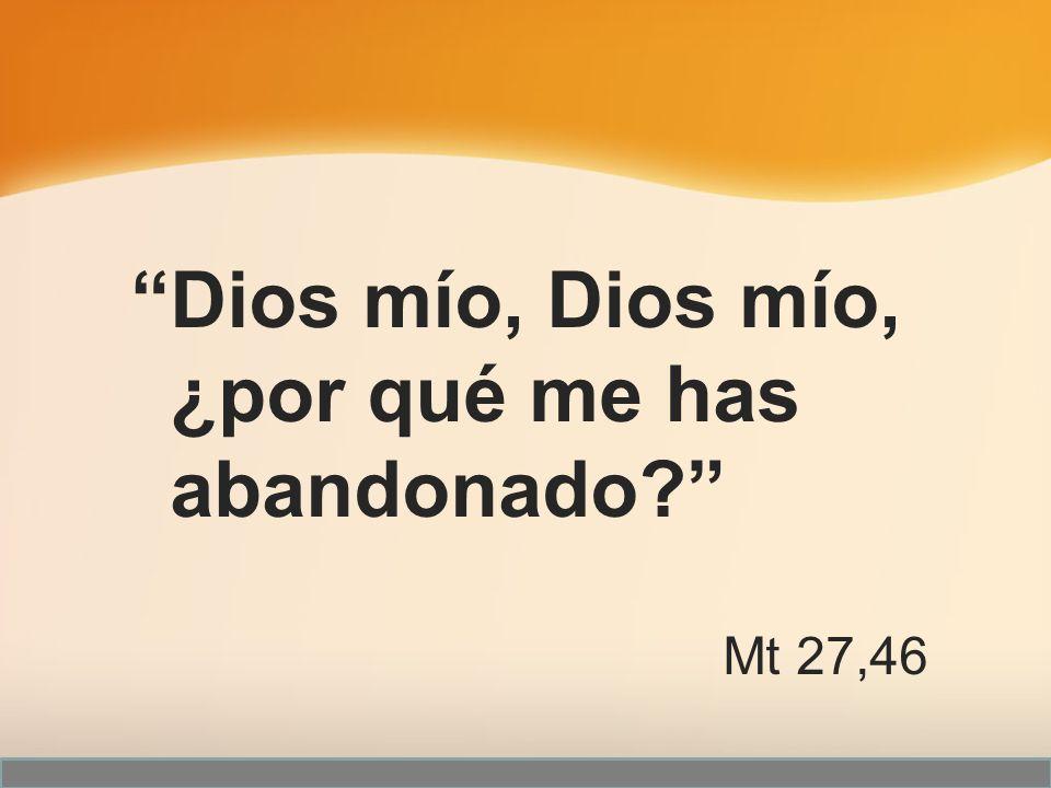 Dios mío, Dios mío, ¿por qué me has abandonado? Mt 27,46