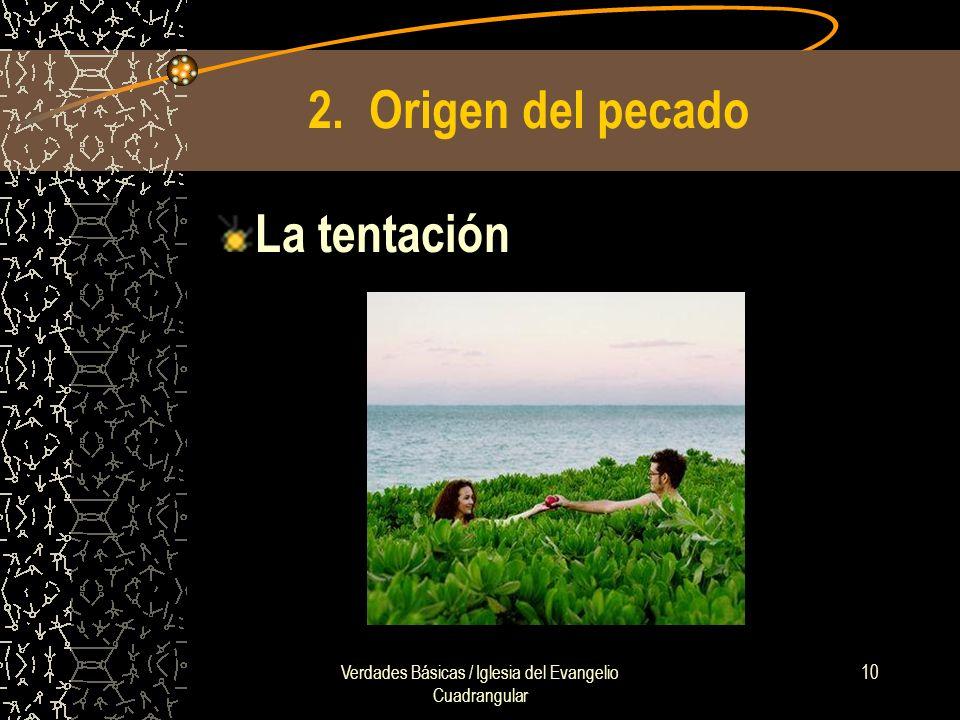 Verdades Básicas / Iglesia del Evangelio Cuadrangular 10 2. Origen del pecado La tentación