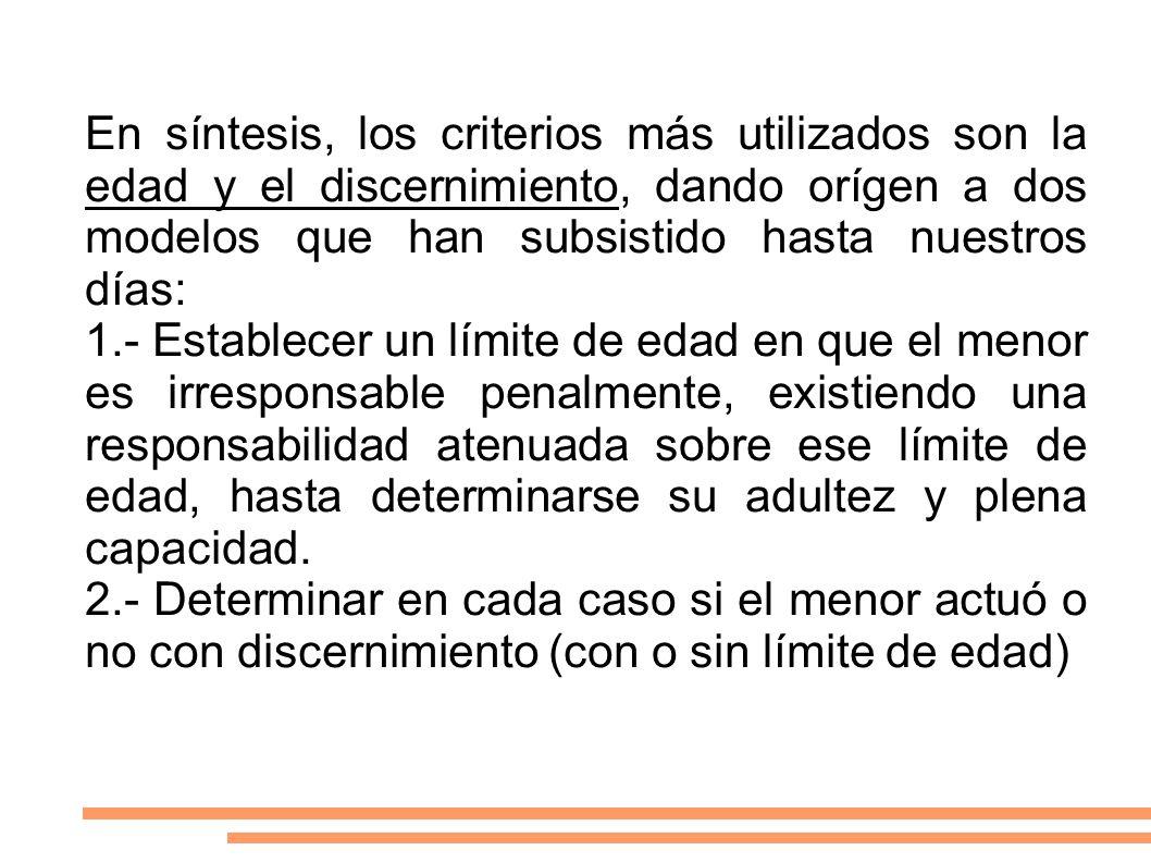 Instrumentos Internacionales: 1.- Convención de los Derechos del Niño (1989) 2.- Directrices de Riad, sobre prevención de la delincuencia de menores (1990) 3.- Reglas de Beijing o de Pekin, sobre instauración de un sistema penal juvenil progresista ( 29/11/85) 4.- Reglas de Tokio, sobre salvaguarda de derechos fundamentales y búsqueda de reinserción en menores privados o no de libertad.(1990)