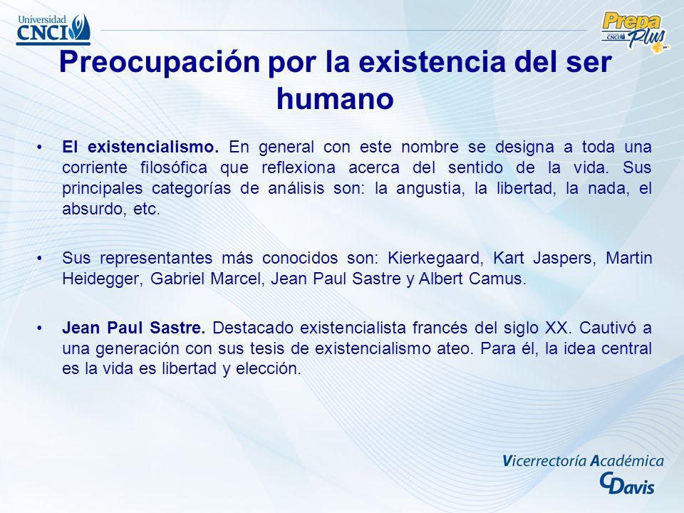 El existencialismo.