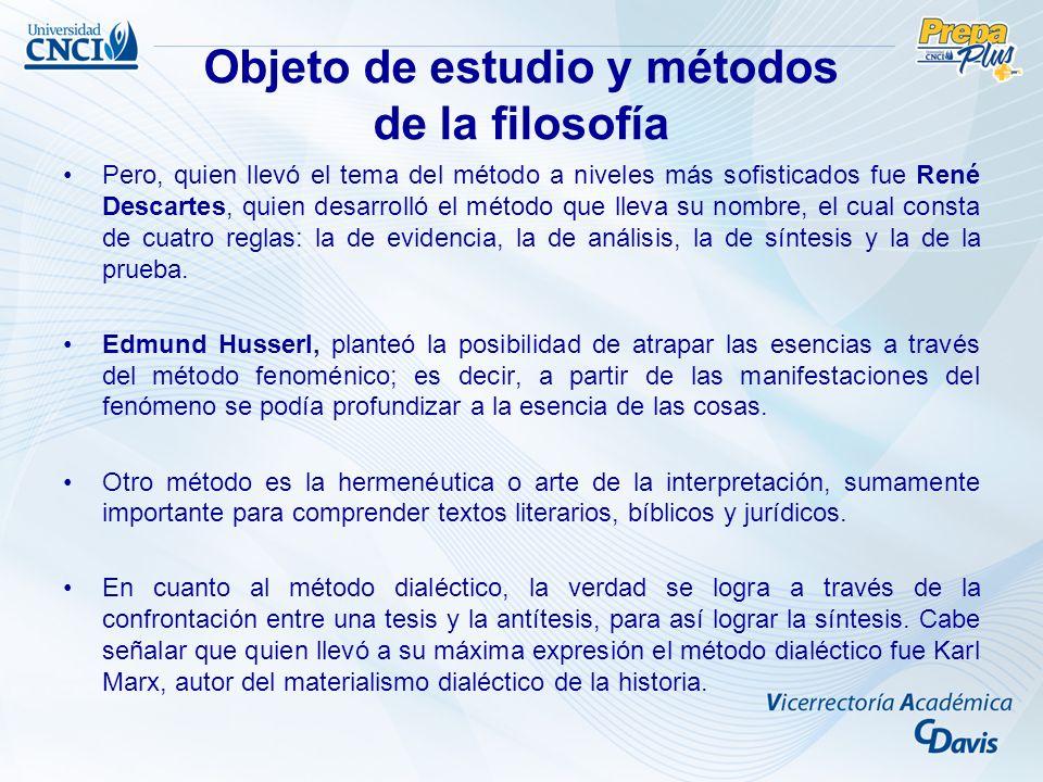 Pero, quien llevó el tema del método a niveles más sofisticados fue René Descartes, quien desarrolló el método que lleva su nombre, el cual consta de