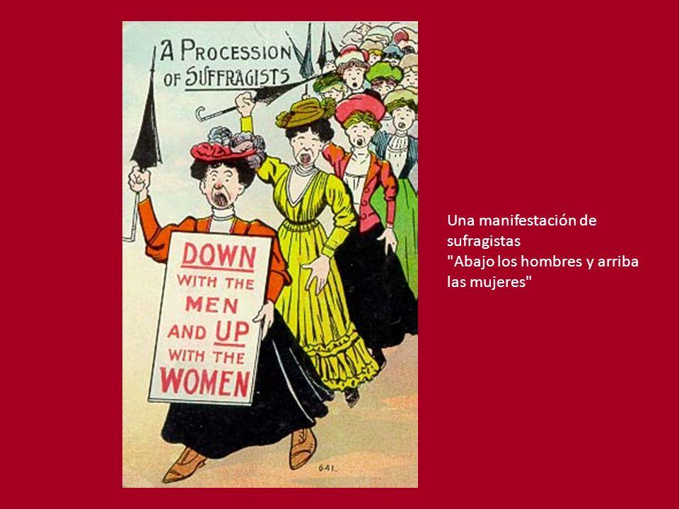 Una manifestación de sufragistas