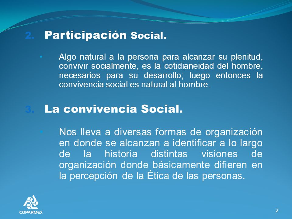 2. Participación Social.