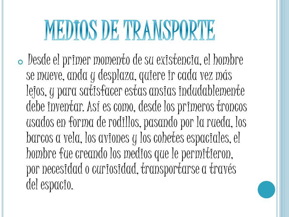MEDIOS DE TRANSPORTE TRANSPORTE TERRESTRE TRANSPORTE AEREO TRANSPORTE MARÍTIMO TRANSPORTE PUBLICO TRANSPORTE PRIVADO