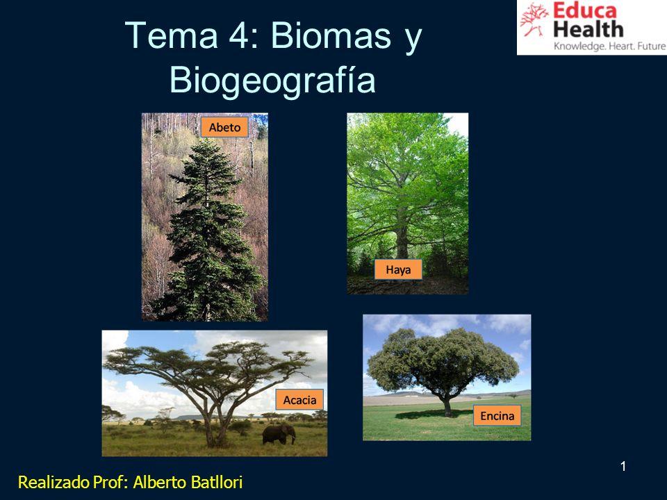 1 Tema 4: Biomas y Biogeografía Realizado Prof: Alberto Batllori