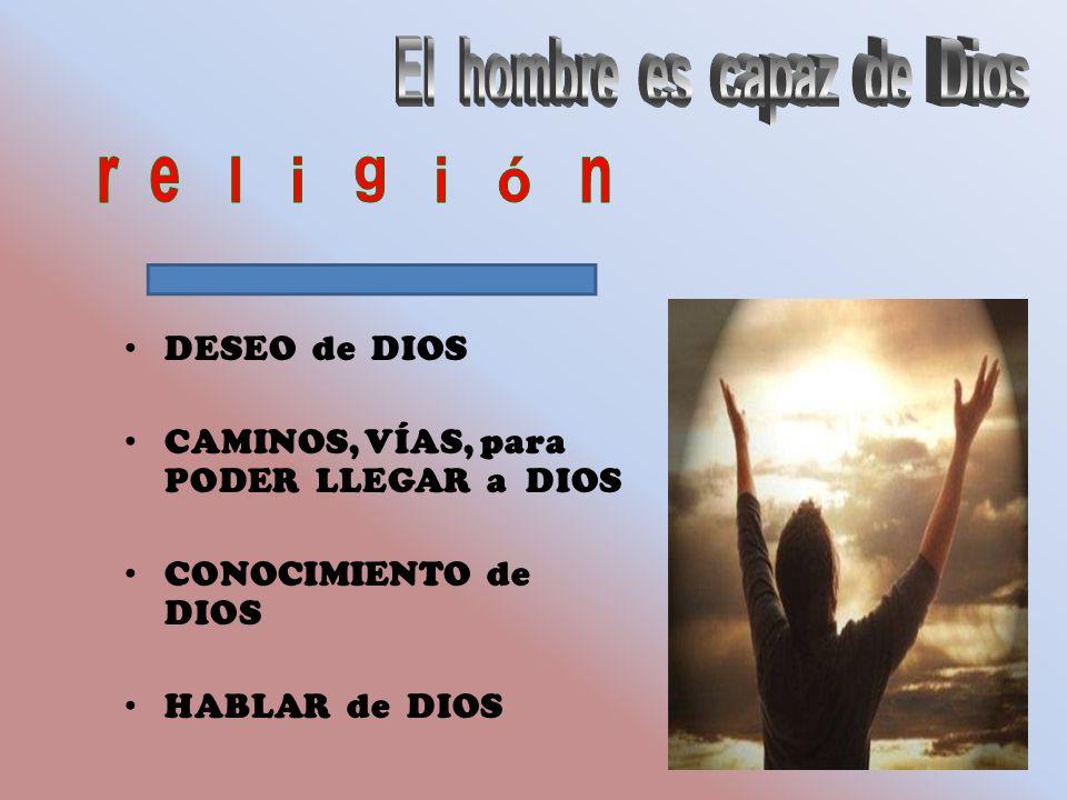 DESEO de DIOS CAMINOS, VÍAS, para PODER LLEGAR a DIOS CONOCIMIENTO de DIOS HABLAR de DIOS