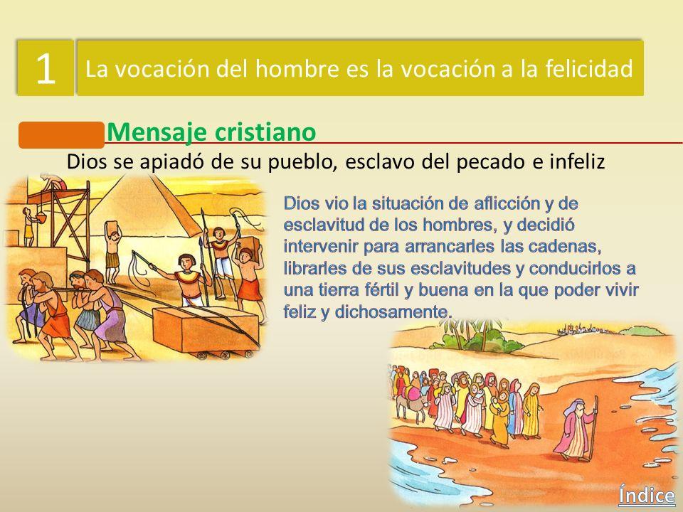 1 1 La vocación del hombre es la vocación a la felicidad Mensaje cristiano El hombre desconfió de Dios