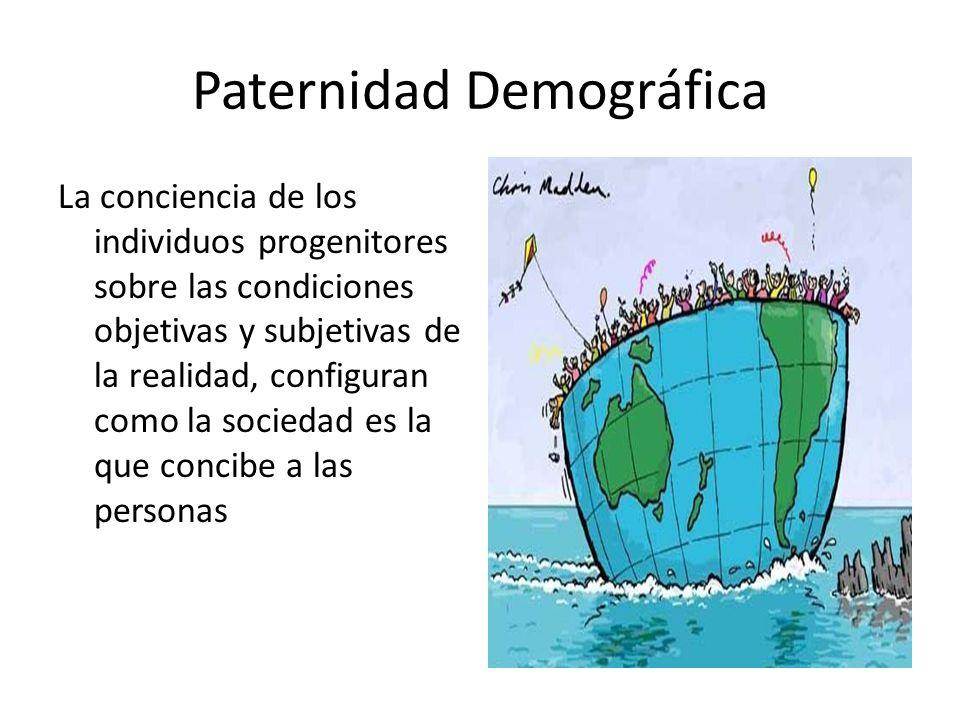 Paternidad Demográfica La conciencia de los individuos progenitores sobre las condiciones objetivas y subjetivas de la realidad, configuran como la so