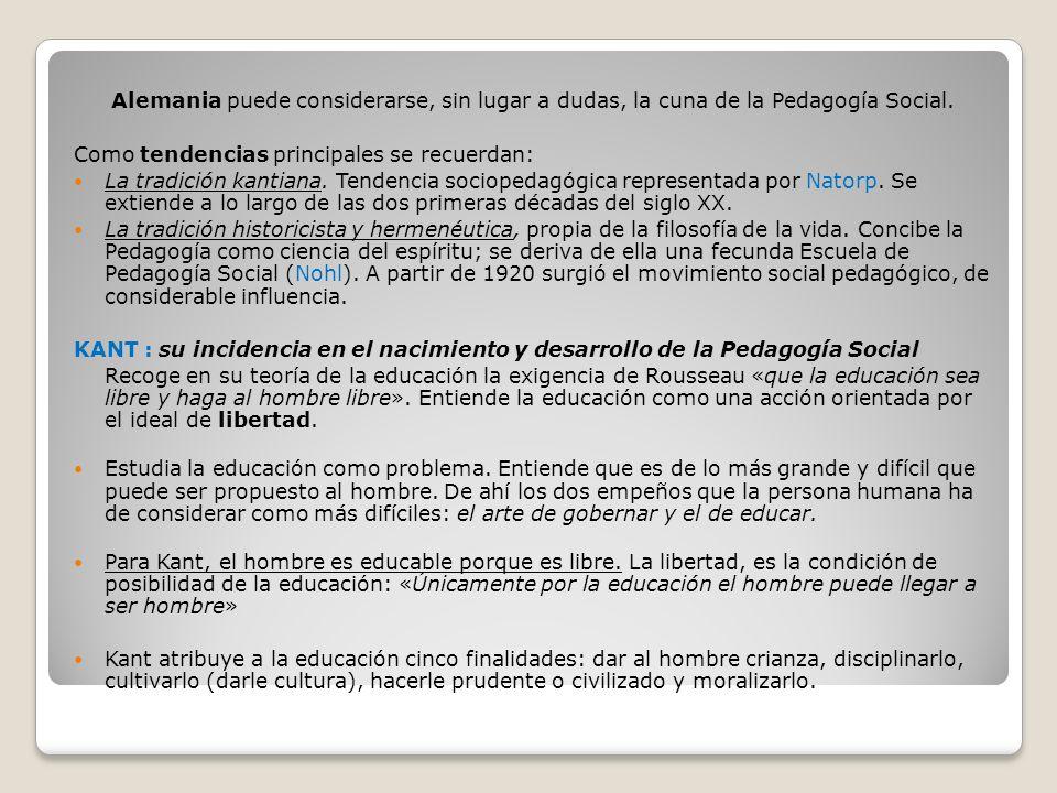REPRESENTANTES DE LA PEDAGOGÍA SOCIAL La concepción clásica de la Educación Social arranca de Platón y Aristóteles.