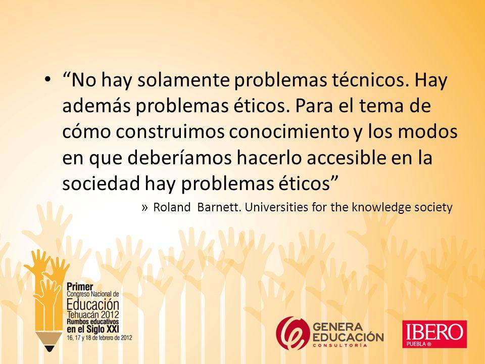 No hay solamente problemas técnicos.Hay además problemas éticos.