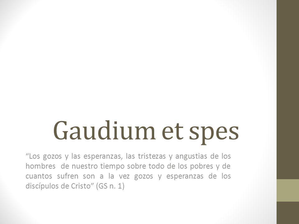 Gaudium et spes 1.¿Qué tipo de documento es la Gaudium et spes.