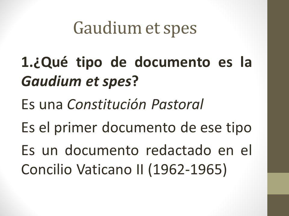 Gaudium et spes 2.¿Qué significa pastoral.