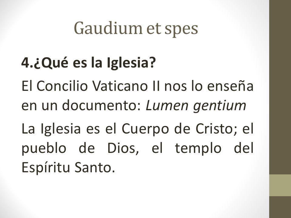 Gaudium et spes La Iglesia es en Cristo como un sacramento, o sea signo e instrumento de la unión íntima con Dios y de la unidad de todo el género humano (LG n.1)