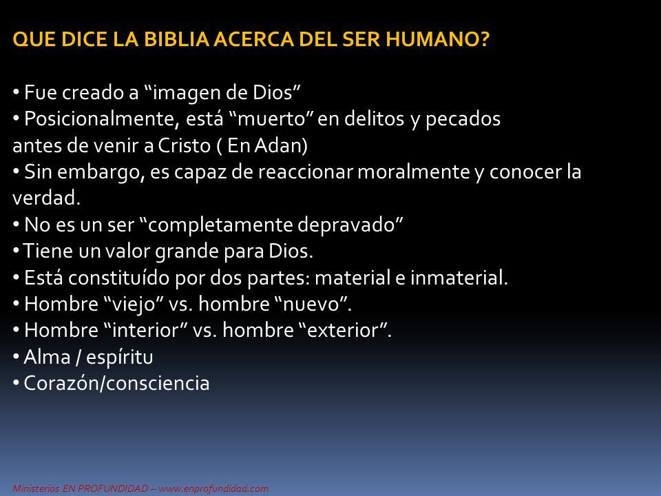 Ministerios EN PROFUNDIDAD – www.enprofundidad.com EL CORAZON EN EL A.T.