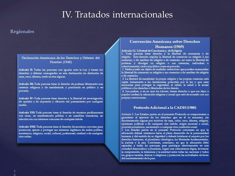 IV.Tratados internacionales 10 Convención Americana sobre Derechos Humanos (1969) Artículo 12.