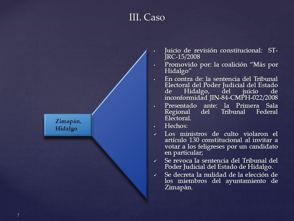 III. Caso 7 Juicio de revisión constitucional: ST- JRC-15/2008 Juicio de revisión constitucional: ST- JRC-15/2008 Promovido por: la coalición Más por
