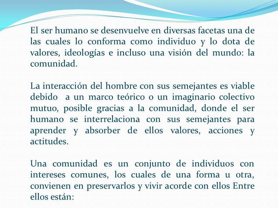 El ser humano se desenvuelve en diversas facetas una de las cuales lo conforma como individuo y lo dota de valores, ideologías e incluso una visión de