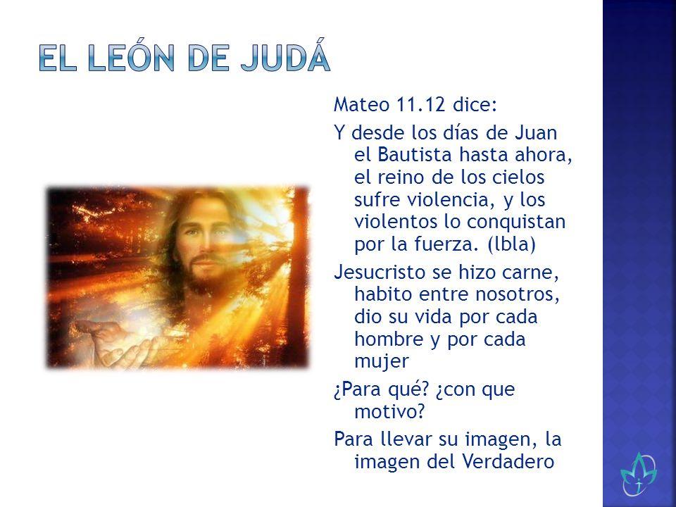 Mateo 11.12 dice: Y desde los días de Juan el Bautista hasta ahora, el reino de los cielos sufre violencia, y los violentos lo conquistan por la fuerz
