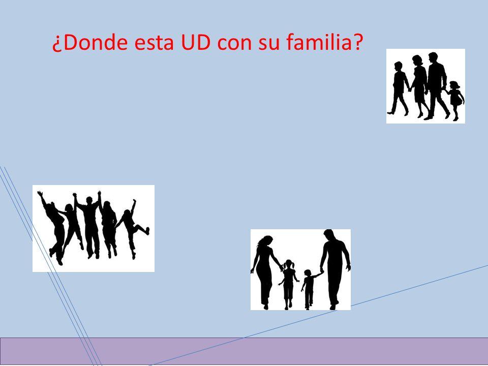 ¿Donde esta UD con su familia?