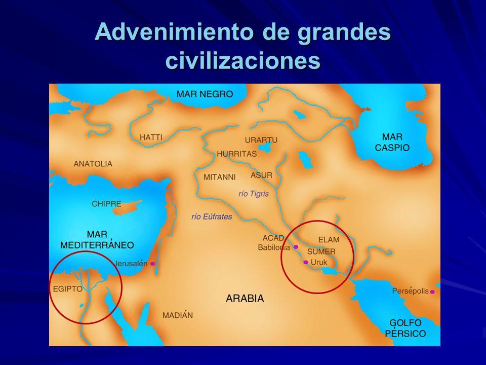 Advenimiento de grandes civilizaciones