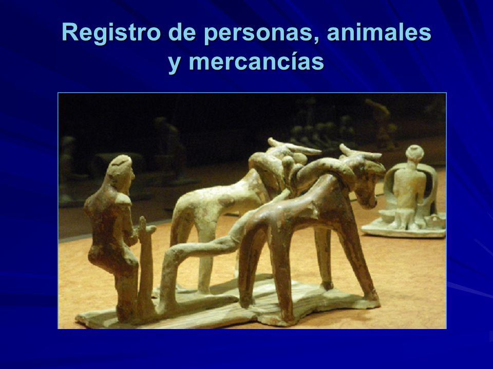 Registro de personas, animales y mercancías