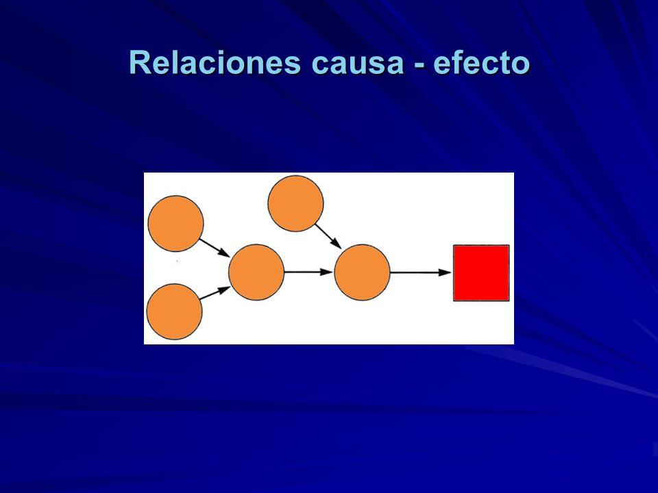 Relaciones causa - efecto