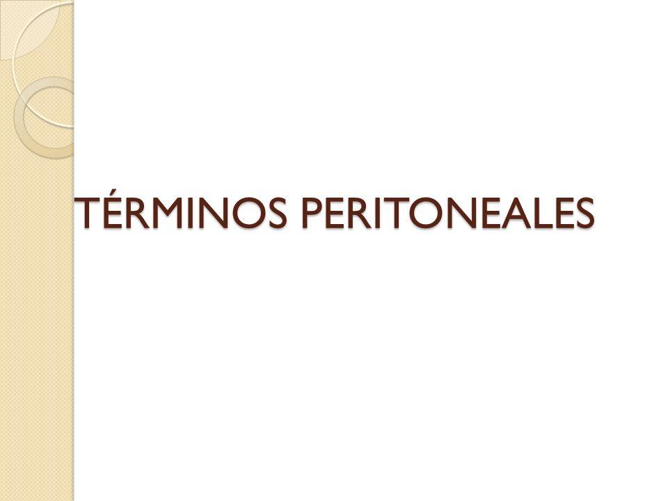 TÉRMINOS PERITONEALES